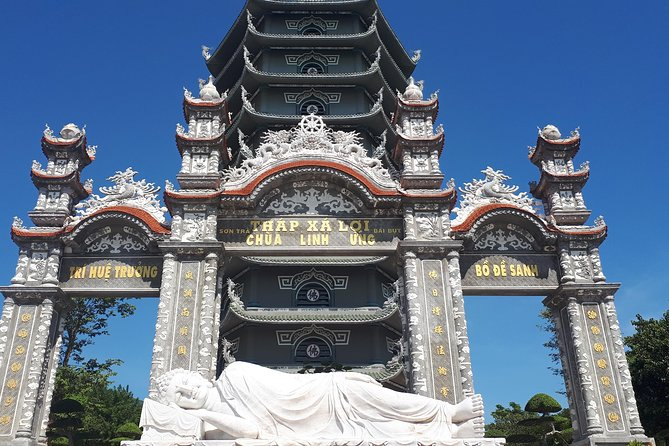 Danang tour of Marble mountains, Linh Ung Pagoda, Paracel Exhi-House, war museum photo 1