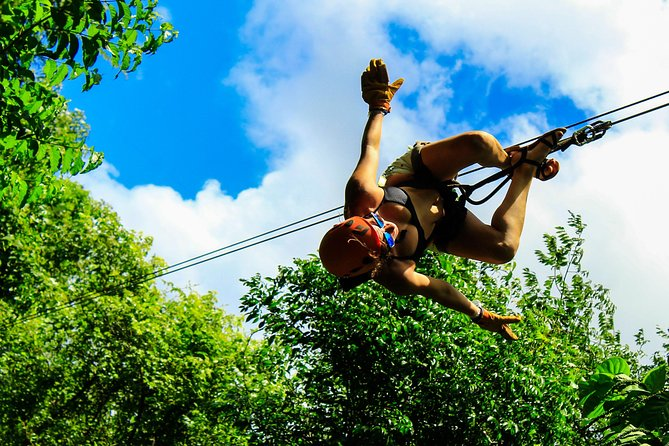 Combo Adventure Tour: Snorkel, Zipline, ATV and Cenote with Transportation
