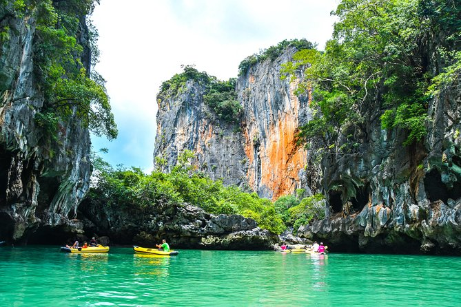 Phang Nga Bay Sea Cave Canoeing & James Bond Island w/ Buffet Lunch by Big Boat