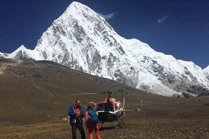 Landing Everest base camp by Helicopter from Kathmandu
