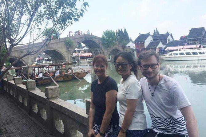 Zhujiajiao Water Town with Huangpu River Night Cruise Tour in Shanghai