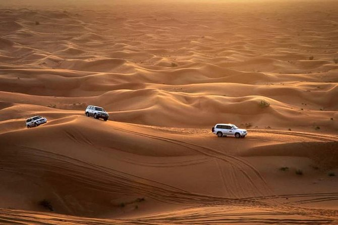 Explore Gulf Culture Dune Safari With BBQ Dinner and Live Shows in Bedouin Camp