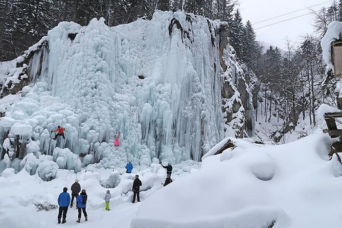 Quick Winter Attraction-ice Climbing In Mlaca Gorge In Mojstrana