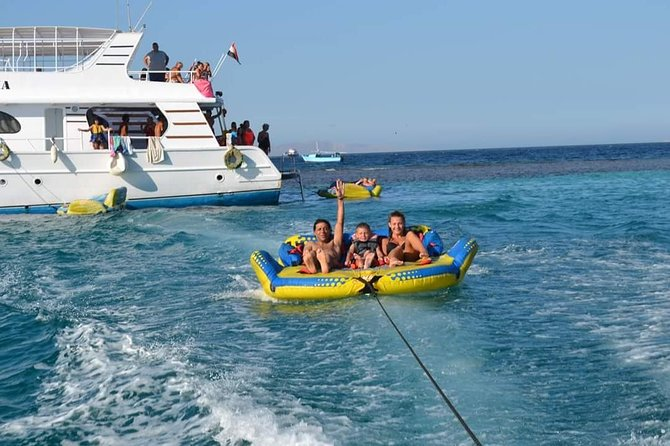 Dolphin House Boat Trip includes snorkeling, lunch and transfers.