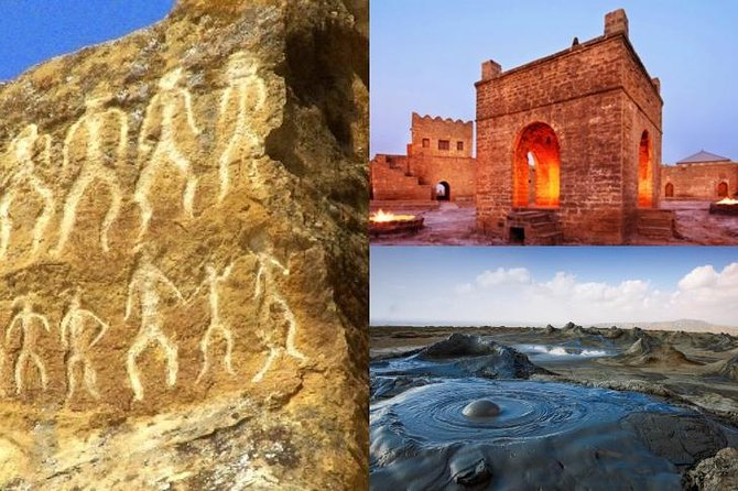 Private Gobustan, Mud Volcanoes, Fire Temple and Burning Mountain Tour
