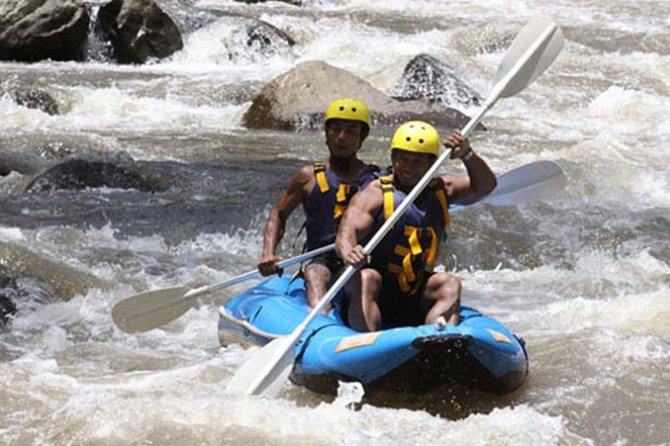 Private Full Day Trip-Ayung river kayaking-Agrotourism-Yeh Pulu Temple-Lunch