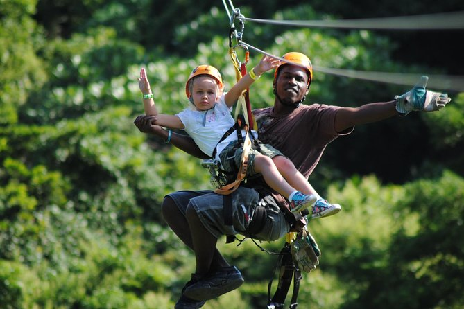 Roatan Shore Excursion: Zip Line Adventure with City Tour Shopping and Beach