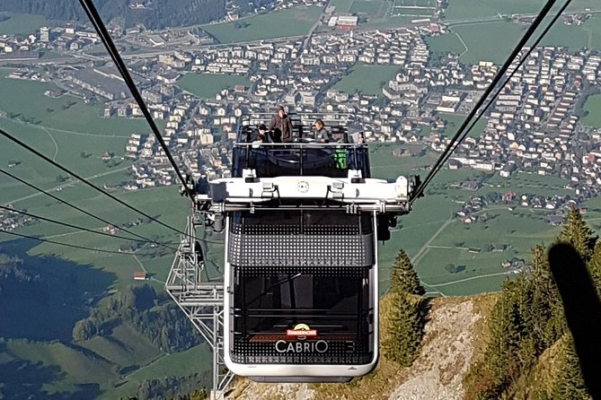 Mt.Stanserhorn Historical Funicular & Cabrio Gondola Private Tour from Luzern
