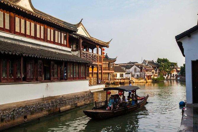 Shanghai Group Tour of Zhujiajiao Water Town and Huangpu River Night Cruise