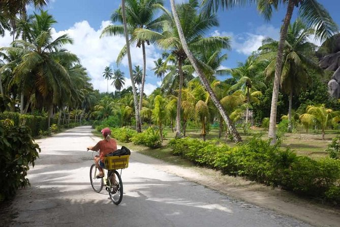 Full Day Boat & Bike Independent Tour of La Digue from Praslin Island