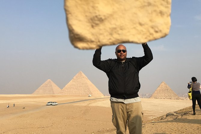 Full day private tour to great pyramids Sphinx Egyptian Museum and Nile boat ride