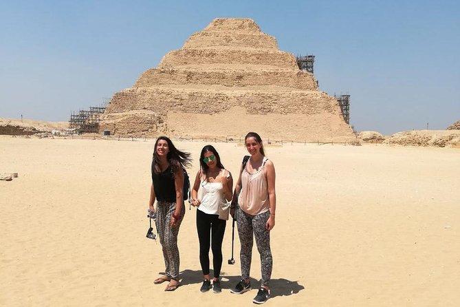 full day pyramids tour Dahshur bent& red pyramids, sakkara step,Memphis day tour