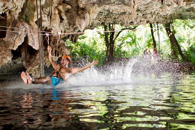 Cancun Jungle Tour: Tulum, Cenote Snorkeling, 4x4 Ride and Ziplining