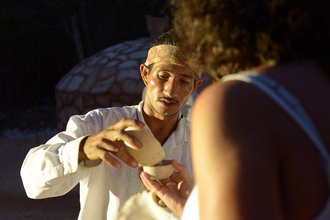 Mayan Ceremonial Night: Temazcal, Cenote Swim and Dinner from Playa del Carmen
