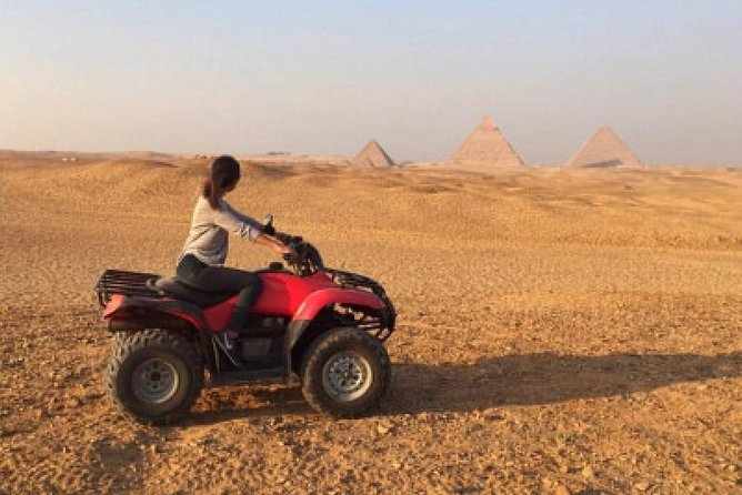 Quad Bike Ride Around Giza Pyramids Private Desert Safari Trip