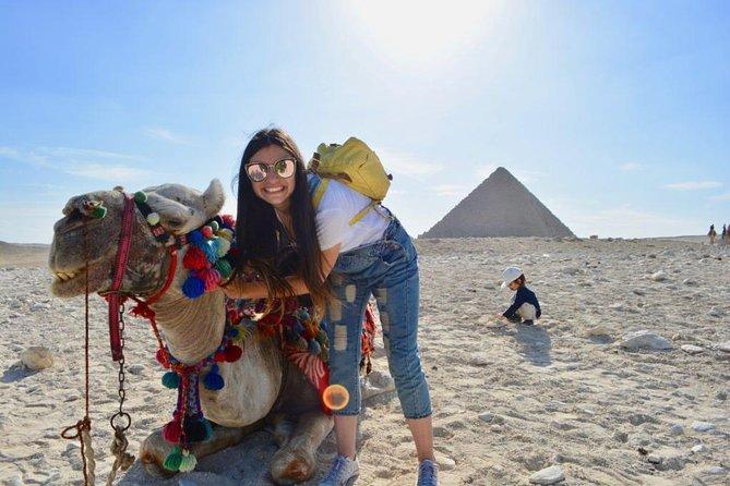 Giza Pyramids, Sphinx, Camel Ride and Sakkara Pyramids Private Guided Day Tour