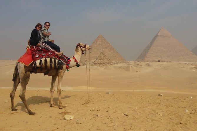 Private Guided day tour to Giza Pyramids Sphinx Memphis City and Saqqara Pyramid