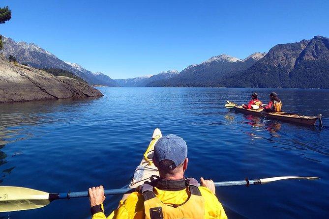 Kayak paddling adventure around Bariloche