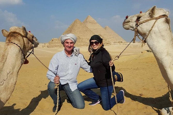 Full day tour to Giza pyramids including Camel ride and The Egyptian museum