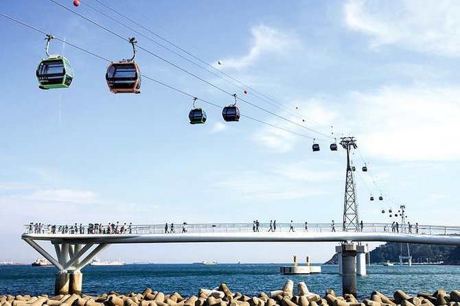 Busan : Air Cruise cable car, Taejongdae, and Gamcheon Village by private van