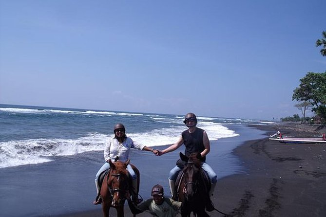 Private Tour Bali Horse Riding 15 Minutes Around The Black Sand Beach-Waterfall