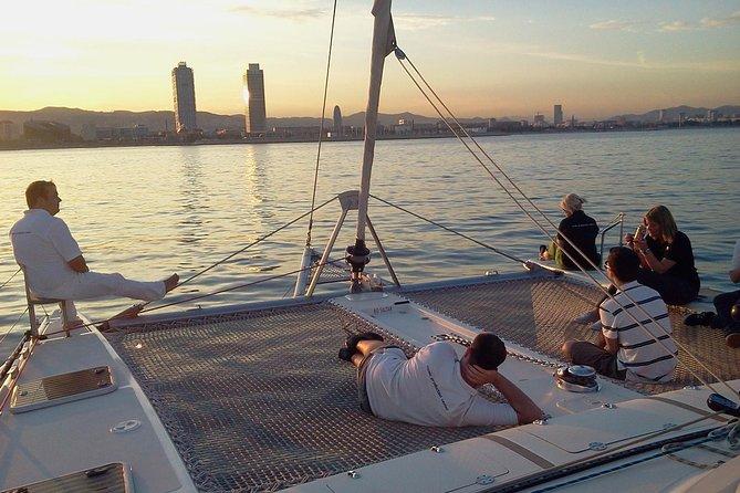 Best Sunset In Barcelona on a Catamaran