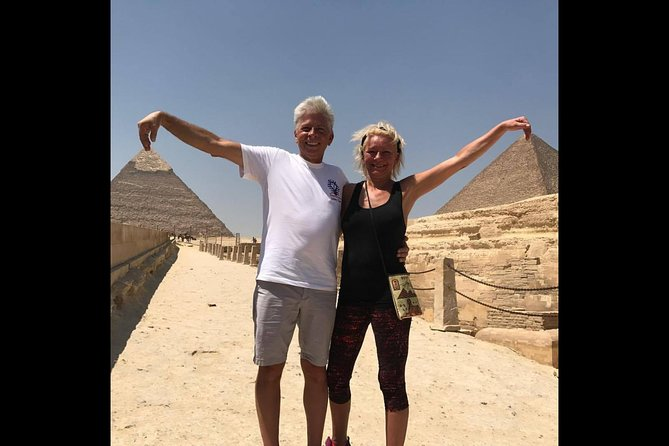 Layover trip to great pyramids Sphinx Egyptian Museum and 1 Hour Nile boat ride