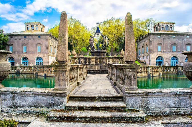 Day Trip from Rome to Viterbo, Bagnaia, Thermal Baths & Lake Vico w hotel pickup