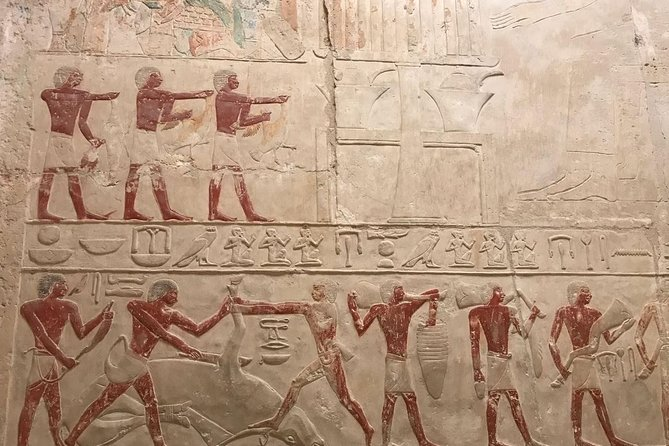 Giza Tombs, Temple, Sphinx and Pyramids Half Day Tour
