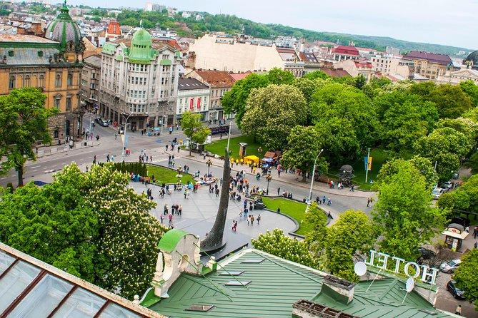 Lviv on the verge of sky