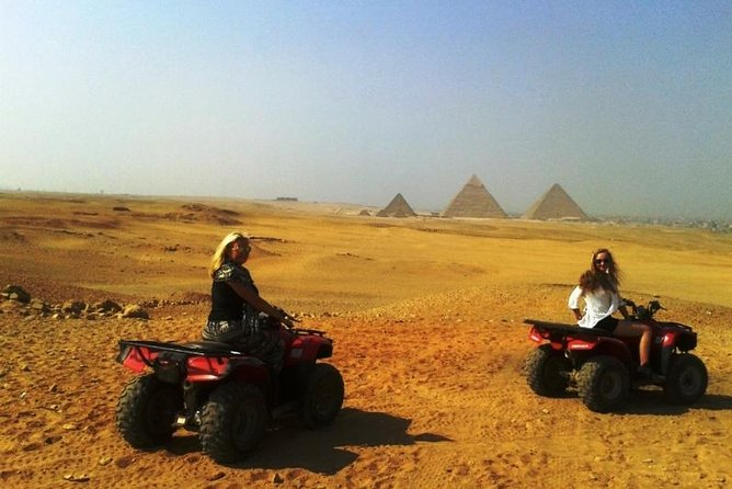 Giza Pyramids Quad Bike Ride with Desert Views