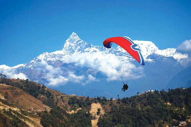 30 Minutes Paragliding in Pokhara including pick up from your hotel in Lakeside.