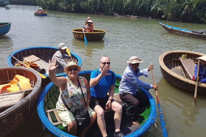 Hoi An Cycling Tour plus river cruise, cooking, coracle rowing, foot massage