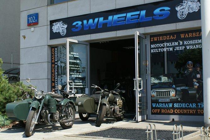 New&Old Praga Vintage sidecar motocykle trips & visit Warsaw, unique attraction!
