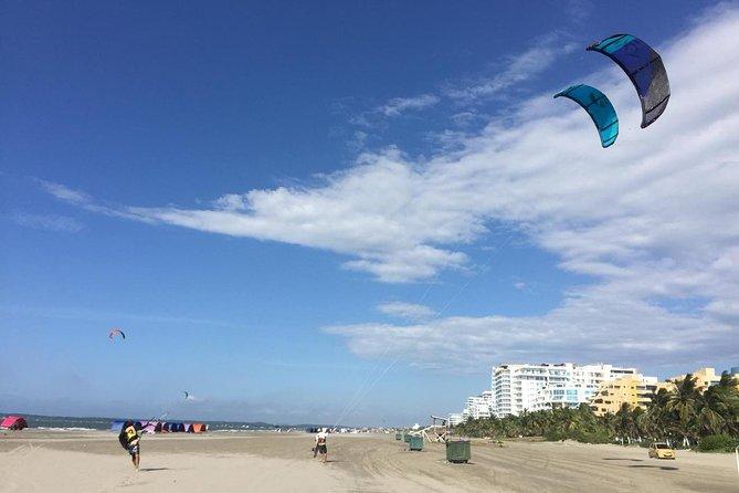 Aulas particulares de kitesurf com foto - gravação de vídeo e lanches na praia