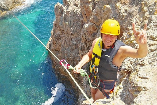Cagliari: Professional Guided Coasteering Tour from Chia