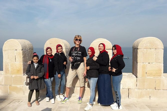 12 hours day tour Alexandria catacomb tomb popmy's pillar cairo giza hotels