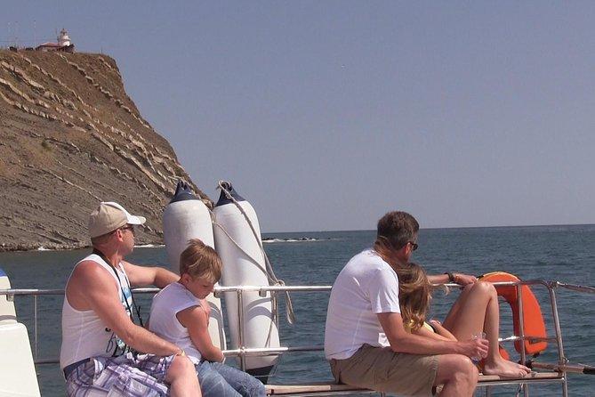 Nessebar Hafen zur Insel St Anastasia Bootstour mit dem Katamaran