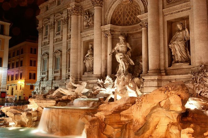 Private tour of Rome top sites by Night including Pantheon & Food Tasting