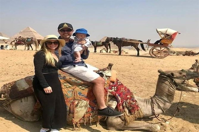 Day Tour Giza Pyramids & Egyptian Museum & Camel ride