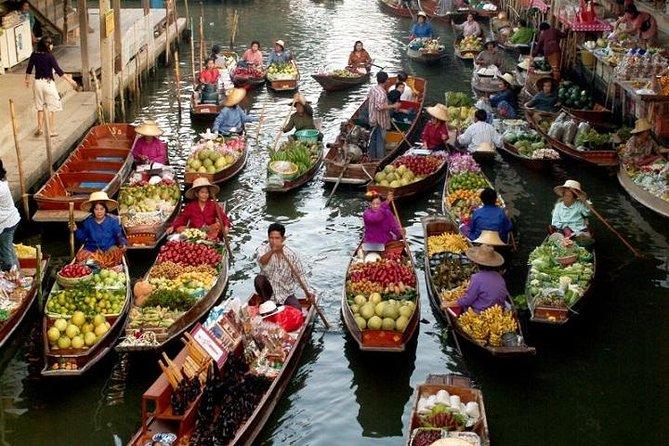 Floating Market Damnoen Saduak and Meklong Railway Market: Half Day Tour