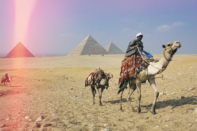guided trip Giza pyramid ,sphinx , lunch and camel ride