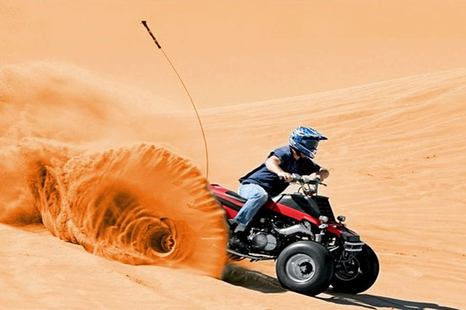 30-Mins Quad Bike Red Dunes Desert Safari & BBQ Dinner