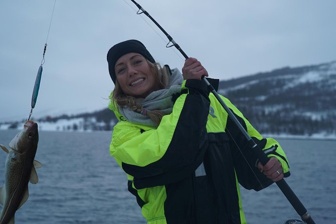 Fisketur med luksuskatamaran i Tromsø