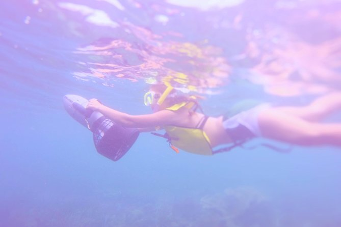 Snorkeling with underwater scooters