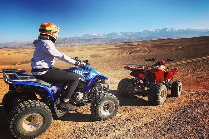 3 hours of Quad biking tour in marrakech palm grove