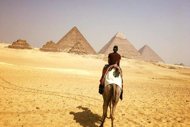 Giza pyramids & sphinx from Cairo Giza hotel with expert guide