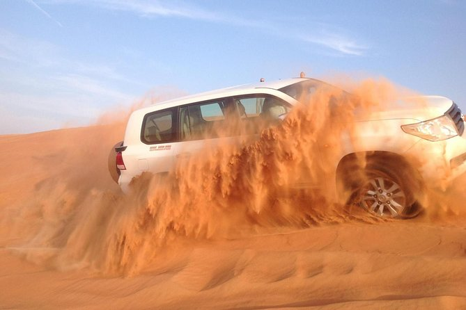 Dubai Desert Safari with BBQ , 4WD Land Cruiser Dune Bashing and Sandboarding