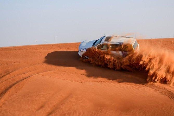 Dubai Desert Safari with BBQ , 4WD Land Cruiser Dune Bashing and Sandboarding