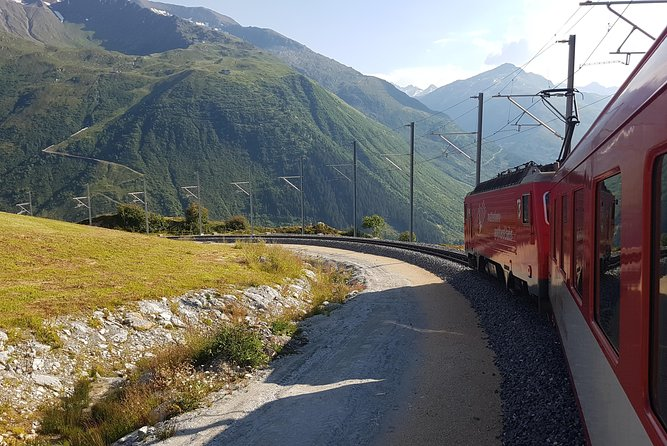 Glacier Express Panoramic Train Round Trip in one Day Private Tour from Basel